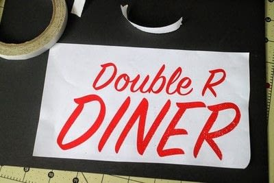 How to make a plaque / sign. Neon Diner Sign - Step 2