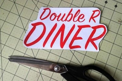 How to make a plaque / sign. Neon Diner Sign - Step 3