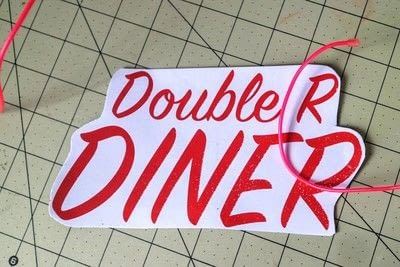 How to make a plaque / sign. Neon Diner Sign - Step 4