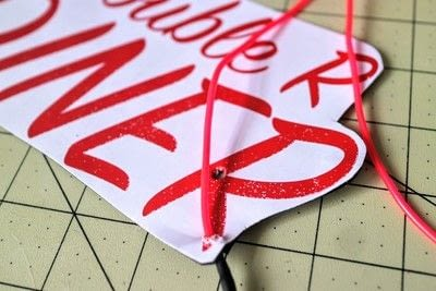How to make a plaque / sign. Neon Diner Sign - Step 6