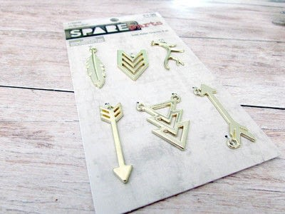How to make a metal necklace. Super Easy Arrow Necklace - Step 2