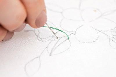How to stitch . Leaf Stitch - Step 2