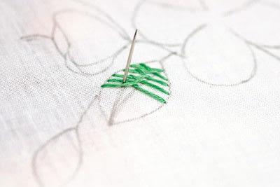 How to stitch . Leaf Stitch - Step 4