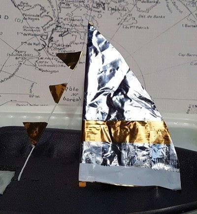 How to make a toy. A Recycled Boat - Step 2