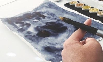 How to paint a piece of watercolor art. Paper Cutout Art - Step 5