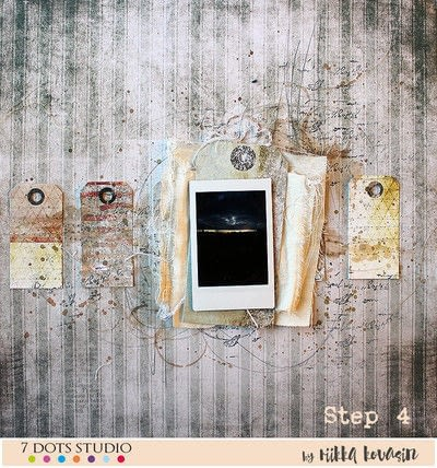 How to make a piece of assemblage art. Be The Change Layout - Step 4