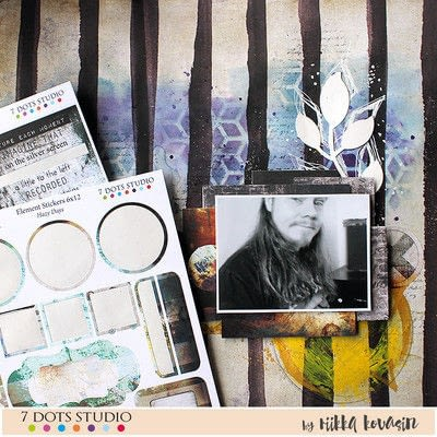 How to make a mixed media. 7 Dots Studio Layout - Step 8
