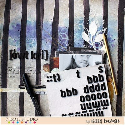 How to make a mixed media. 7 Dots Studio Layout - Step 9
