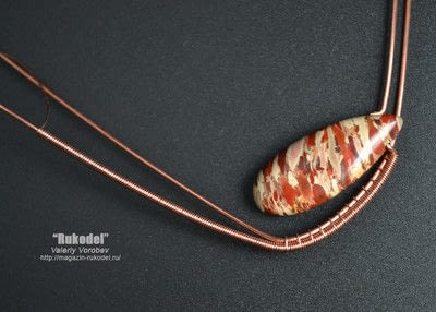 How to make a wire pendant. Wire Wrap Tutorial. Wire Wrap Pendant. - Step 4