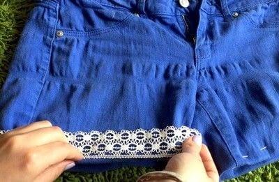 How to make shorts. DIY Shorts - Step 4