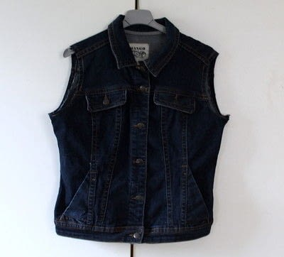 How to make a denim jacket. DIY Sleeveless Denim Jacket - Step 1