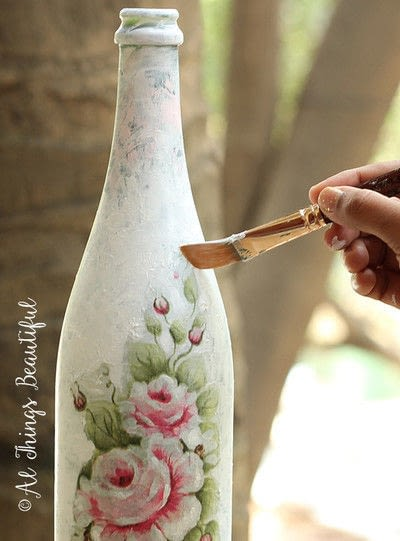 How to make a vase. Transformations Using The Craft Of Decoupage! - Step 3