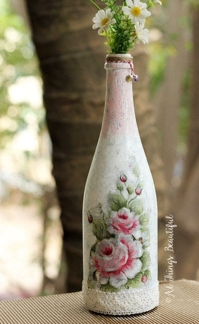 How to make a vase. Transformations Using The Craft Of Decoupage! - Step 4