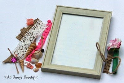 How to make a frame / photo holder. Create A Mixed Media Altered Picture Frame In 5 Easy Steps! - Step 1