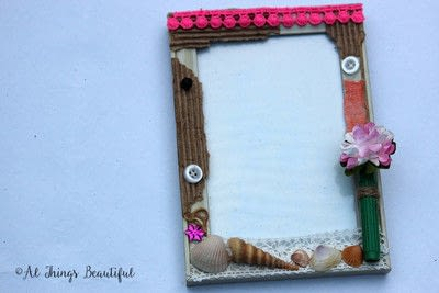 How to make a frame / photo holder. Create A Mixed Media Altered Picture Frame In 5 Easy Steps! - Step 2
