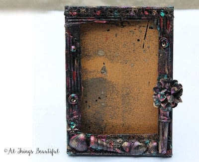 How to make a frame / photo holder. Create A Mixed Media Altered Picture Frame In 5 Easy Steps! - Step 4