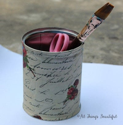 How to make a pot. 'Uncovering Secret Script' Altered Tin! - Step 1