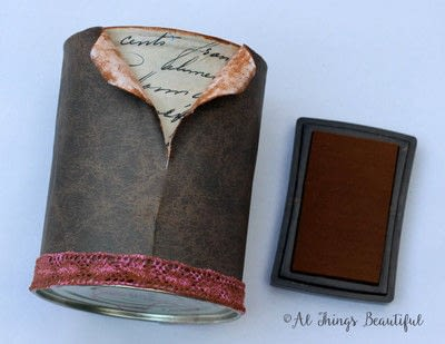 How to make a pot. 'Uncovering Secret Script' Altered Tin! - Step 4