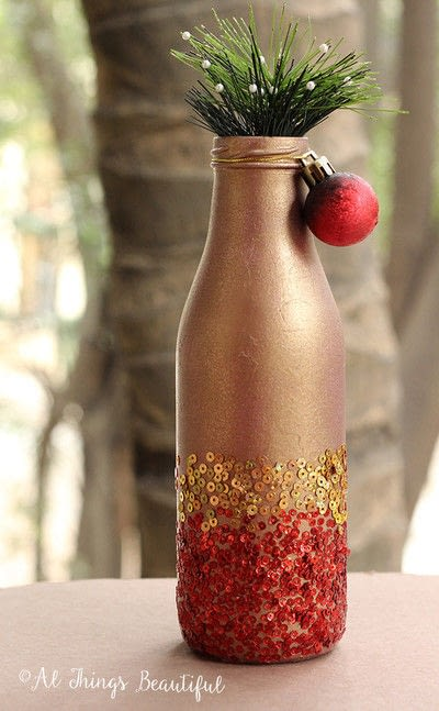 How to make a vase. Stunning Gold And Glitter Diy Home Decor! - Step 5