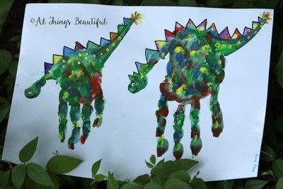How to make a card. Most Wonderful Keepsake Kids Hand Print Art! - Step 1