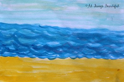 How to paint a piece of watercolor art. A Step By Step Watercolor Project That Kids Will Love! - Step 1
