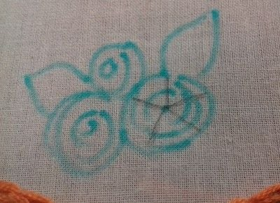 How to embroider . Hand Embroidered Woven Wheel Rose  - Step 4