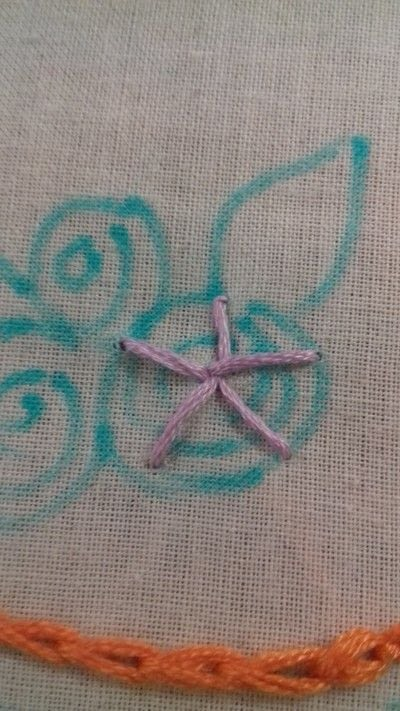 How to embroider . Hand Embroidered Woven Wheel Rose  - Step 5