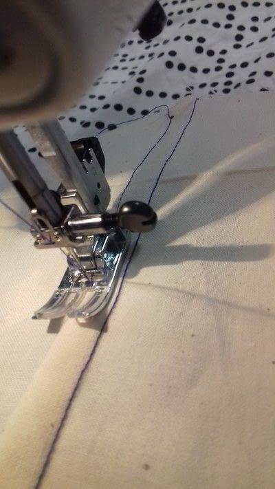 How to sew a seam. Flat Felled Seam - Step 9