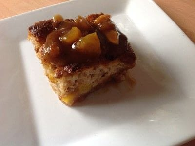 How to bake a cake. Peach Pudding - Step 8