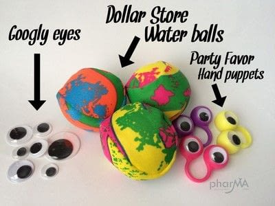 How to make a toy ball. No Sew Monster Balls - Step 1