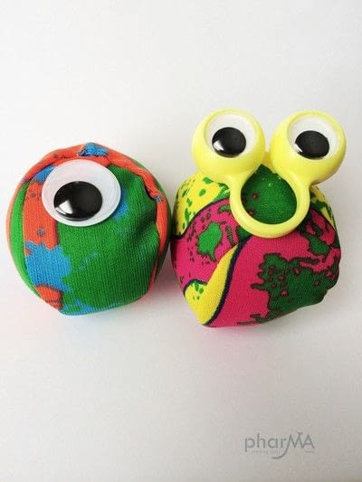 How to make a toy ball. No Sew Monster Balls - Step 2