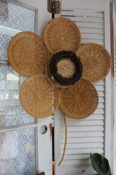 How to make a piece of seasonal decor. Bamboo Sunflower - Step 1