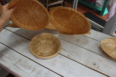 How to make a piece of seasonal decor. Bamboo Sunflower - Step 5