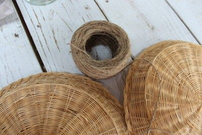 How to make a piece of seasonal decor. Bamboo Sunflower - Step 6
