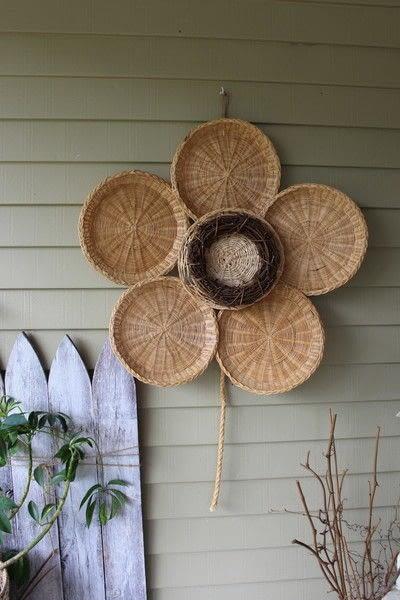 How to make a piece of seasonal decor. Bamboo Sunflower - Step 9