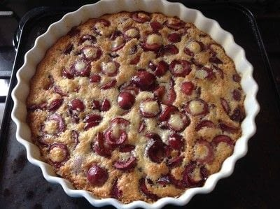 How to make a pudding. Cherry Clafoutis  - Step 5