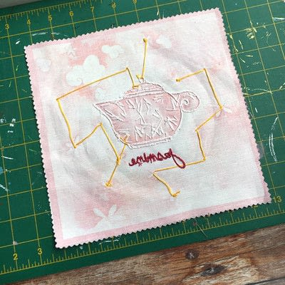 How to make a piece of textile art. Frame Your Embroidery - Step 1