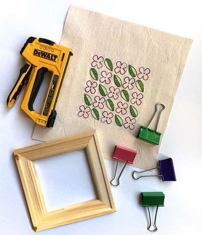 How to embroider . Embroidery On Stretched Canvas - Step 1
