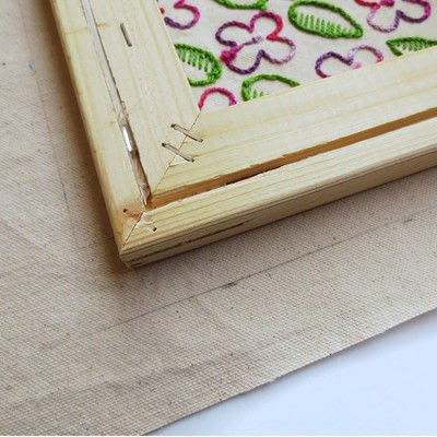 How to embroider . Embroidery On Stretched Canvas - Step 2
