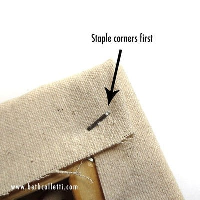 How to embroider . Embroidery On Stretched Canvas - Step 7
