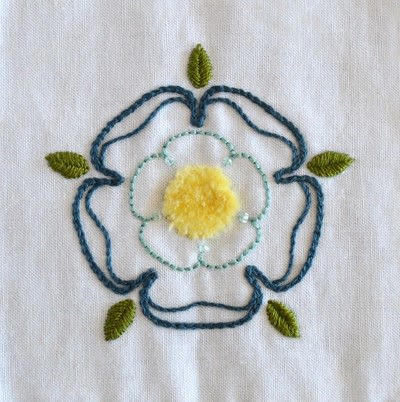 How to embroider . Tudor Bloom - Step 1