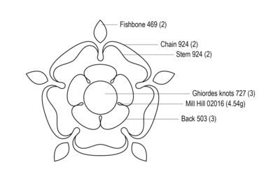 How to embroider . Tudor Bloom - Step 3