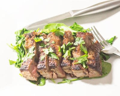 How to cook a meat / tofu dish. Ginger Garlic Flank Steak - Step 1