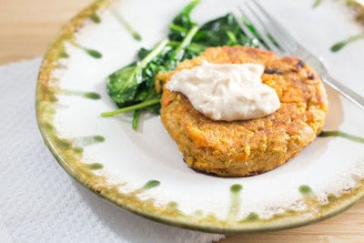 How to cook a fishcake. Sweet Potato Salmon Cakes - Step 1