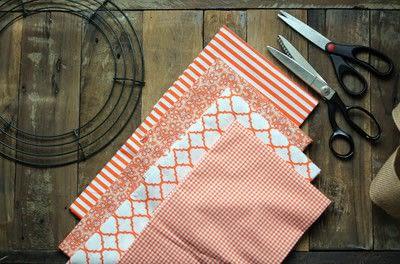 How to make a fabric wreath. Cute + Easy Rag Wreath Diy - Step 1