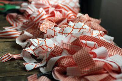 How to make a fabric wreath. Cute + Easy Rag Wreath Diy - Step 3