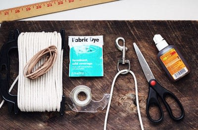 How to make a pet collar/leash. Dyed + Braided Rope Dog Leash Diy - Step 1