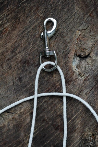How to make a pet collar/leash. Dyed + Braided Rope Dog Leash Diy - Step 2