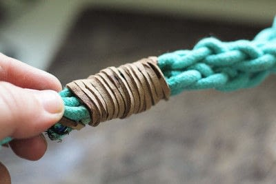 How to make a pet collar/leash. Dyed + Braided Rope Dog Leash Diy - Step 10