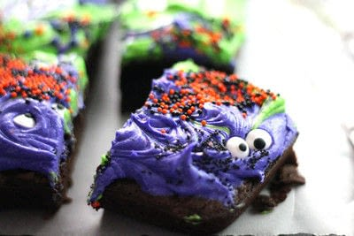 How to bake a brownie. Monster Mash Halloween Brownies - Step 6